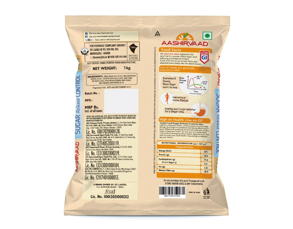 Aashirvaad - Sugar Release Control Atta - 2kg – Bild 2