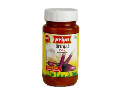 Priya - Brinjal Pickle (without Garlic) - 300g
