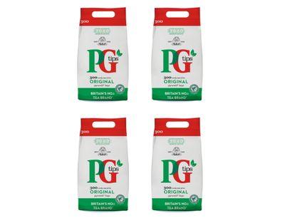 PG Tips - Black Tea - 4x 300 teabags