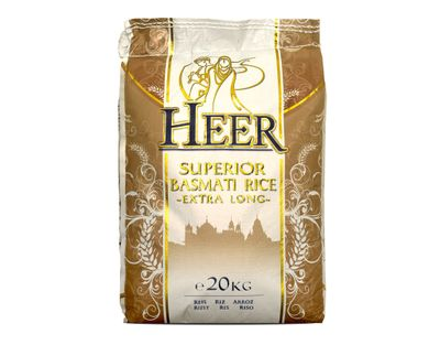 Heer - Superior Basmati Rice extra long grain (Family Pack) - 20kg