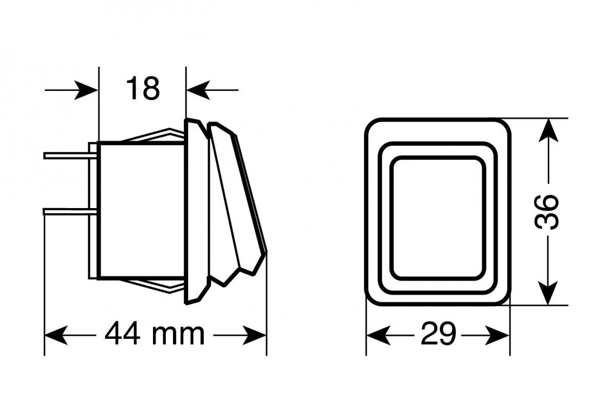 Lampa Kippschalter 12//24V mit grüner LED