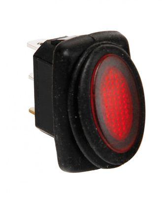 Lampa Mikro Kippschalter 12/24V mit roter LED