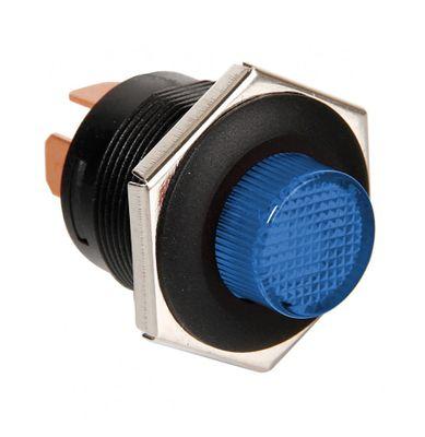 Lampa Druckschalter 12/24V mit blauer LED