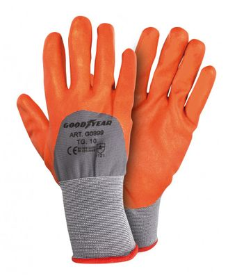 Goodyear Arbeitshandschuhe Nylon Gr. L orange
