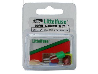 Littelfuse Mini-Stecksicherungsortiment 5-30A