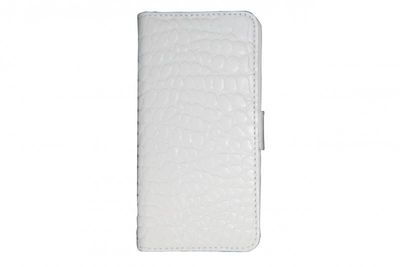 Valenta Handytasche Booklet Croco white iPhone5