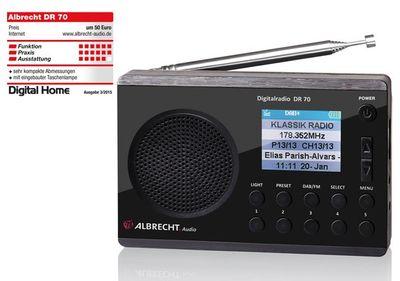 ALBRECHT DR 70 Digitalradio, DAB+/UKW