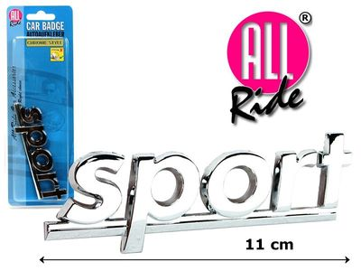 ALL Ride Deko-Sticker Chrom SPORT