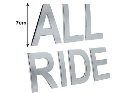 "All Ride Ziffern-Sticker Chrom ""2"", selbstklebend"