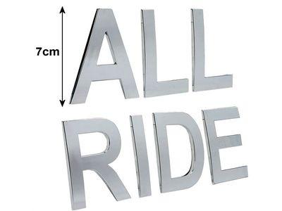 """All Ride Buchstaben-Sticker Chrom """"R"""", selbstklebend"""