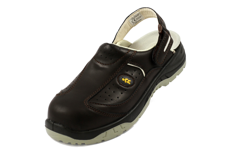 Sb Shopverkaufsware Euroroutier Braun Schuhe Trendy Sicherheitsclogs j5ARc34qL