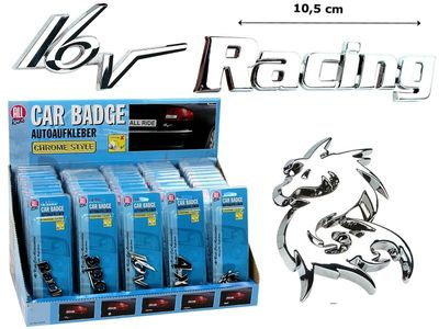 All Ride Chromdekoration Car Badge Drachen