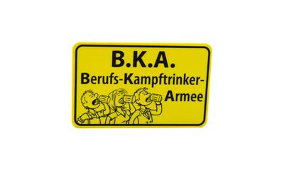 """Ortsschild-Flaschenöffner """"B.K.A."""""""