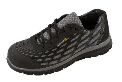 Euro-Dan Spider ESD Schuhe, Oberteil in Grau/Schwarz mit schwarzen Sohlen, grau S3 + C + SRC