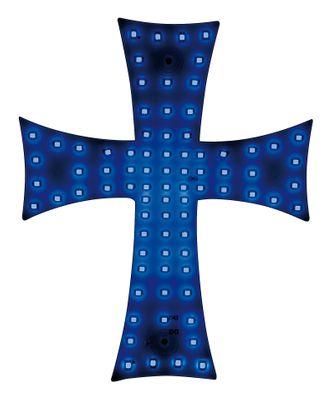 LED Innenleuchte Kreuzmotiv blau 24 V