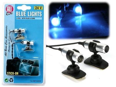 All Ride Innenleuchten Mini Laser Blau 24V