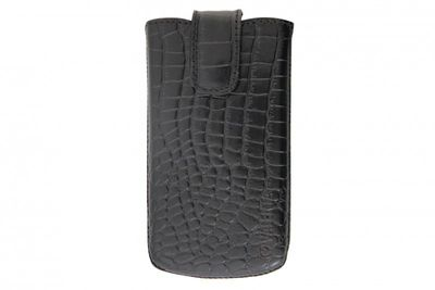 Valenta Handytasche Pocket Lucca Croco Black S01 iPhone 3, Samsung Galaxy mini