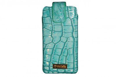 Valenta Handytasche Pocket Glam Turquoise 22 Samsung Galaxy S4