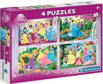 KMS - Clementoni Disney Princess 4 Puzzles