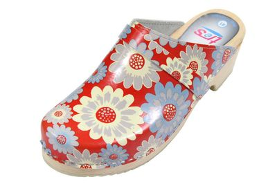 Original tres Schwedenclogs Flower Power
