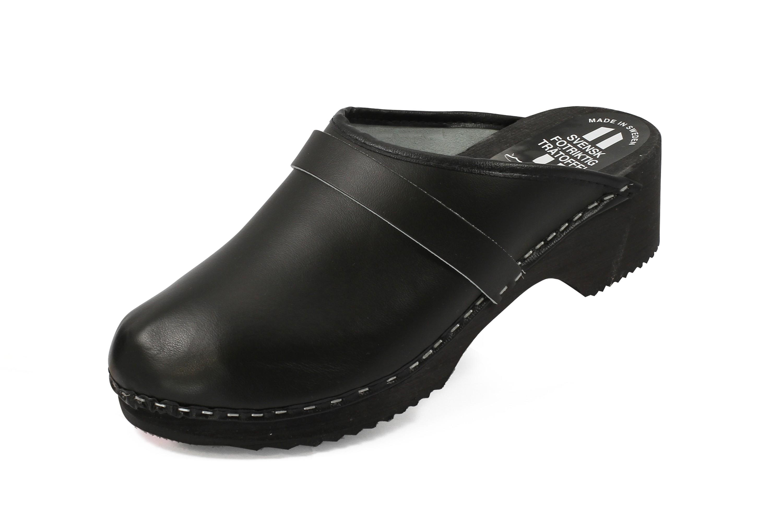 schweden clogs aus echtem leder farbe schwarz shopverkaufsware schuhe bekleidung clogs. Black Bedroom Furniture Sets. Home Design Ideas