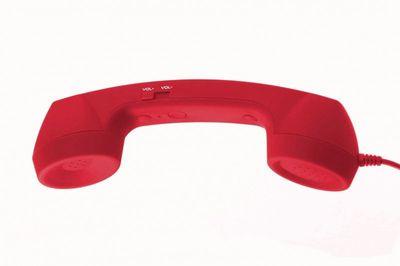 KMS - Satzuma Telefonhörer für Mobiltelefone mit Rufannahme-Funktion rot