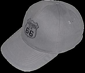 Basecap Route 66 grau