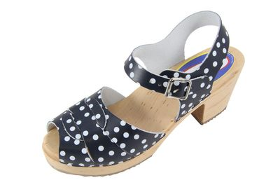 Carlotti Design Clogs Lilly blau gepunktet