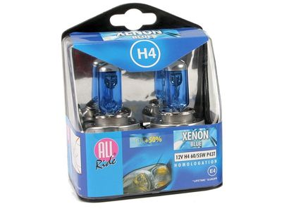 ALL Ride Xenon Blue H4 Scheinwerfer 2er-Pack 12V 60/55W P43T E4