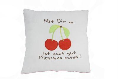"""Plüsch Kissen """"Kirschen essen"""""""