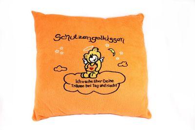 Plüsch Kissen Schutzengel orange