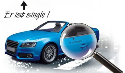 "Autoaufkleber ""Er ist Single"""