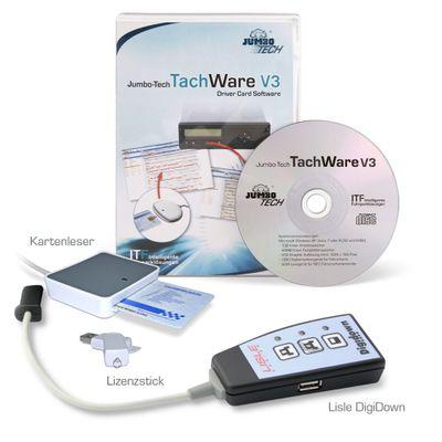 Jumbo-Fischer TachWare V3 Auslesegerät Lisle Digidown Softwarepaket