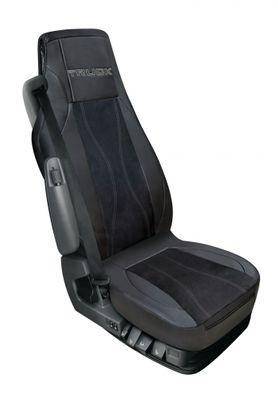 Luana LKW Sitzbezug aus Kunstleder in schwarz/grau