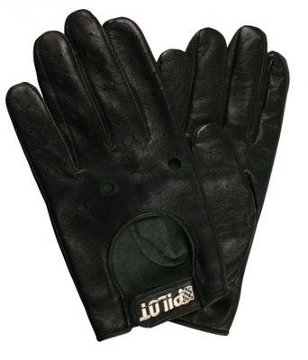 Pilot Fahrerhandschuhe aus Leder Größe M, schwarz
