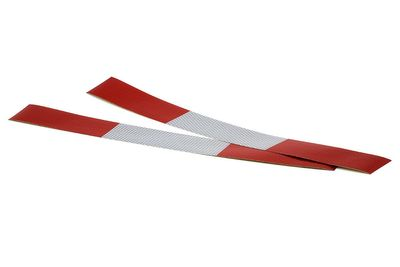 ALL Ride Reflektorstreifen selbstklebend 2x45 cm, weiß/rot
