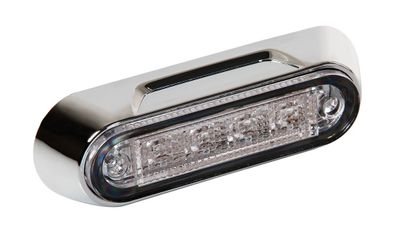 Lampa LED Einbaulicht Chrom-Optik 4 LED gelb 12/24V E4