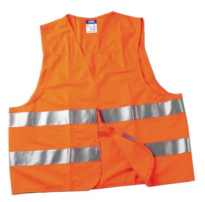Life Vest Warnweste orange, für die Größen M-XXL