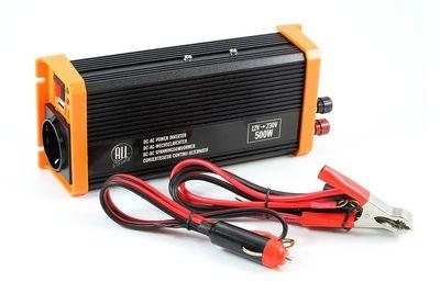 ALL Ride Umwandler DC/AC mit USB-Ausgang 12V<230V / 500W