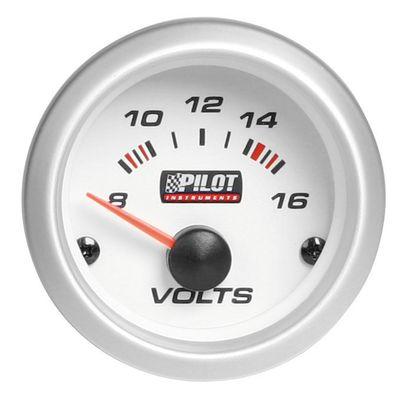 PILOT Voltmeter mit blauer Beleuchtung 8-16V