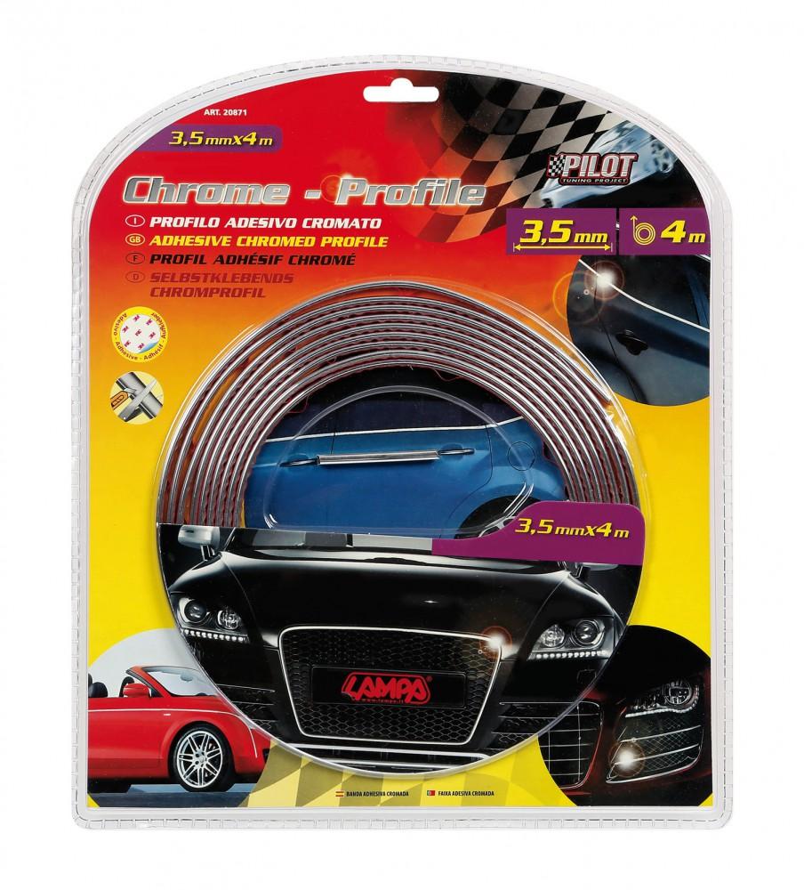 PILOT Fahrzeug Zierstreifen Chrom-Optik 3,5 mm x 4 m