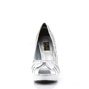 BETTIE-10, Pumps Open Toe silber Glitter Satin – Bild 2