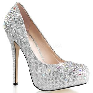 DESTINY-06R, High Fashion Strass Pumps silber