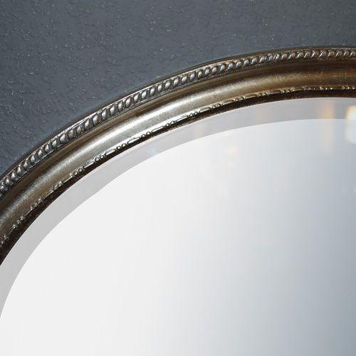 Spiegel LEILA silber-antik 57x67cm oval Barock – Bild 2