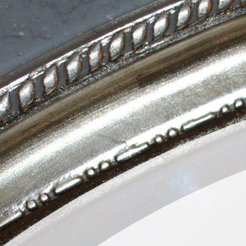 Spiegel LEILA silber-antik 57x67cm oval Barock – Bild 3