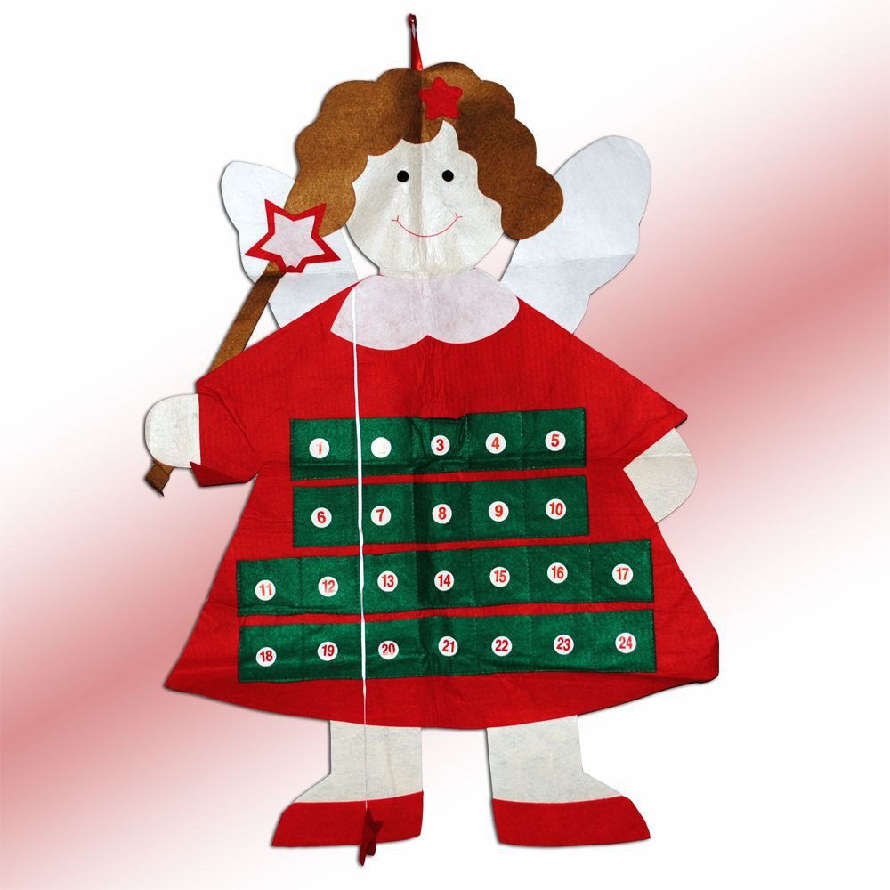 Weihnachtskalender Adventskalender ENGEL aus Filz