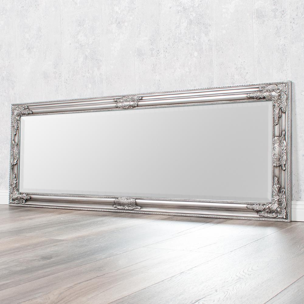 spiegel bessa barock silber antik 140x50cm 2831. Black Bedroom Furniture Sets. Home Design Ideas