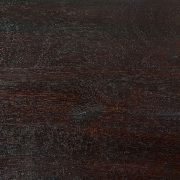 Couchtisch SHIVA Dark-Brown-A 50x50cm Akazie Massivholz Beistelltisch – Bild 3