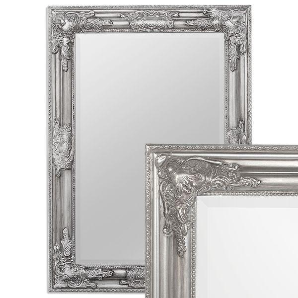 Spiegel BESSA barock silber-antik 70x50cm