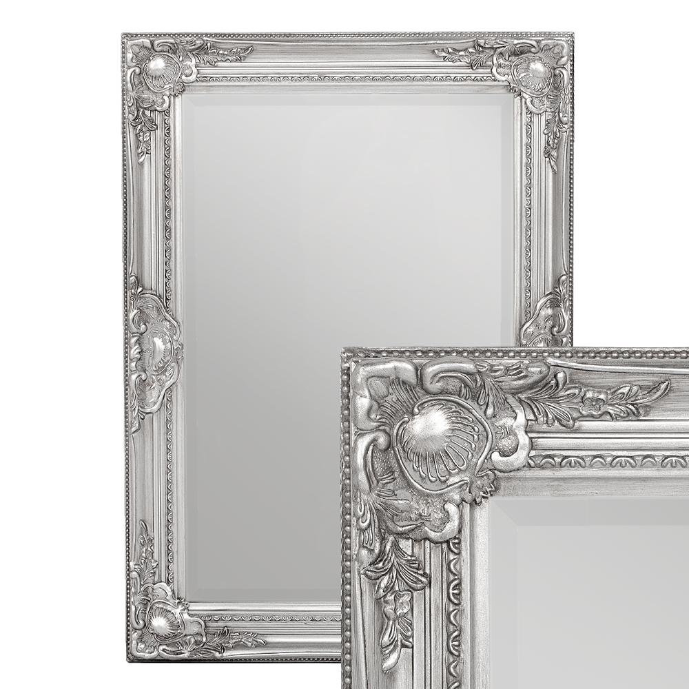 Spiegel LEANDOS barock silber-antik 70x50cm